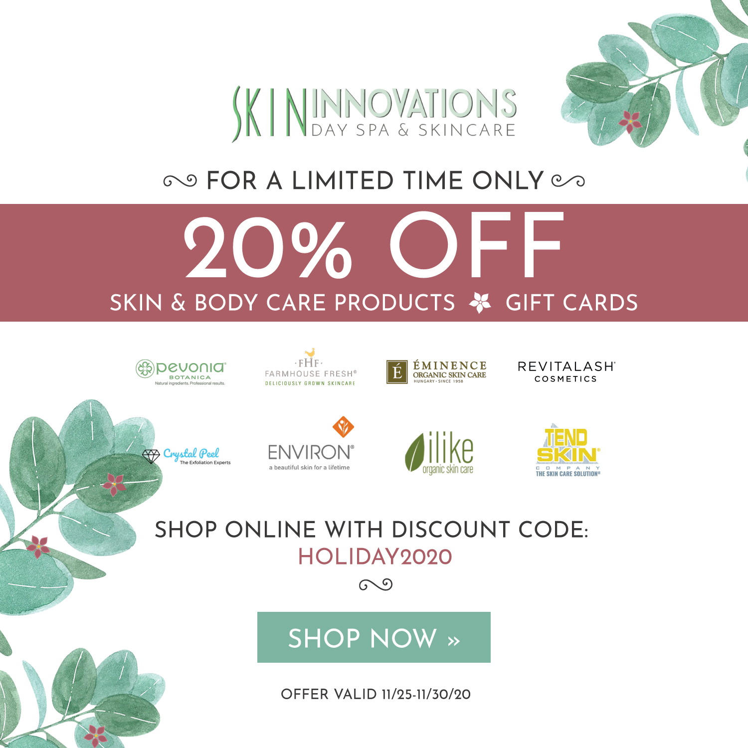 spa gift card special